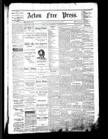 Acton Free Press (Acton, ON), October 26, 1882