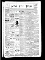 Acton Free Press (Acton, ON), November 16, 1882