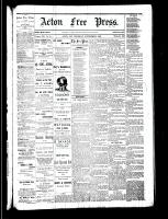 Acton Free Press (Acton, ON), November 23, 1882