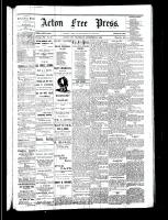 Acton Free Press (Acton, ON), November 30, 1882