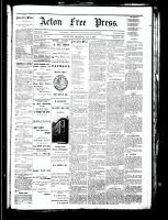 Acton Free Press (Acton, ON), October 4, 1883