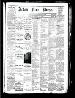 Acton Free Press (Acton, ON), October 11, 1883