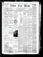 Acton Free Press (Acton, ON), October 18, 1883