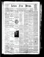 Acton Free Press (Acton, ON), October 25, 1883