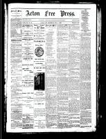 Acton Free Press (Acton, ON), November 1, 1883
