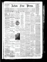 Acton Free Press (Acton, ON), November 15, 1883