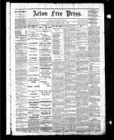 Acton Free Press (Acton, ON), December 11, 1884