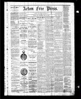 Acton Free Press (Acton, ON), December 25 1884