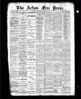 Acton Free Press (Acton, ON), January 7, 1886
