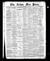 Acton Free Press (Acton, ON), January 14, 1886