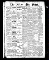 Acton Free Press (Acton, ON), January 21, 1886