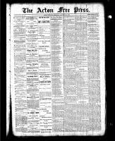 Acton Free Press (Acton, ON), January 28, 1886
