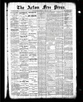 Acton Free Press (Acton, ON), February 11, 1886