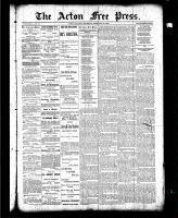 Acton Free Press (Acton, ON), February 25 1886