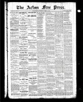 Acton Free Press (Acton, ON), March 11, 1886
