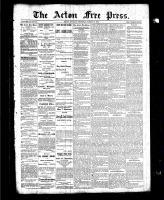 Acton Free Press (Acton, ON), March 18, 1886
