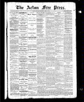 Acton Free Press (Acton, ON), April 1, 1886
