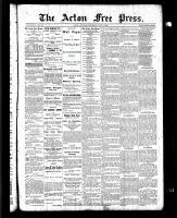 Acton Free Press (Acton, ON), May 6, 1886