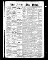 Acton Free Press (Acton, ON), May 27, 1886