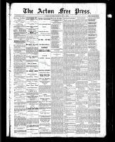 Acton Free Press (Acton, ON), July 1, 1886