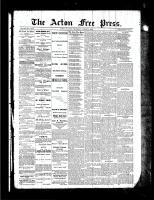 Acton Free Press (Acton, ON), August 5, 1886