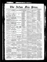 Acton Free Press (Acton, ON), August 12, 1886