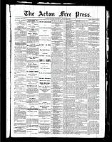 Acton Free Press (Acton, ON), August 26, 1886