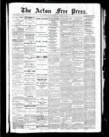 Acton Free Press (Acton, ON), October 28, 1886