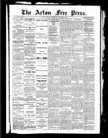 Acton Free Press (Acton, ON), November 4, 1886