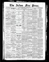 Acton Free Press (Acton, ON), November 25, 1886