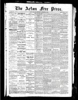 Acton Free Press (Acton, ON), December 9, 1886