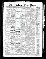 Acton Free Press (Acton, ON), December 30, 1886