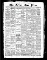 Acton Free Press (Acton, ON)27 Jan 1887