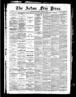 Acton Free Press (Acton, ON), February 3, 1887