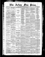 Acton Free Press (Acton, ON), February 10, 1887