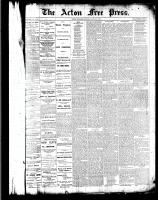 Acton Free Press (Acton, ON)7 Jul 1887