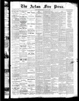 Acton Free Press (Acton, ON), July 21, 1887