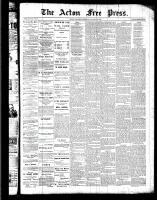 Acton Free Press (Acton, ON), August 18, 1887