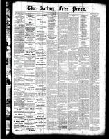 Acton Free Press (Acton, ON)13 Oct 1887
