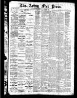 Acton Free Press (Acton, ON), October 20, 1887