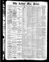Acton Free Press (Acton, ON), November 3, 1887
