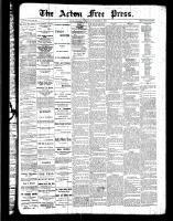 Acton Free Press (Acton, ON)17 Nov 1887