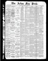 Acton Free Press (Acton, ON)22 Dec 1887