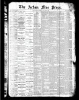 Acton Free Press (Acton, ON)12 Jan 1888