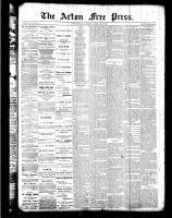 Acton Free Press (Acton, ON)9 Feb 1888