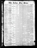 Acton Free Press (Acton, ON)26 Apr 1888