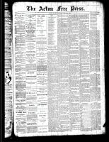 Acton Free Press (Acton, ON), August 30, 1888