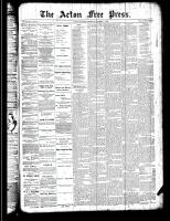 Acton Free Press (Acton, ON), October 4, 1888