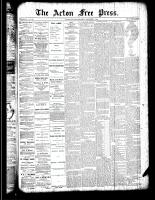 Acton Free Press (Acton, ON), November 1, 1888