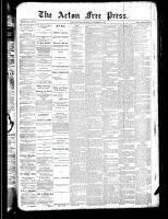 Acton Free Press (Acton, ON), November 15, 1888
